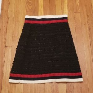 Gucci knit-trimmed boucle tweed skirt